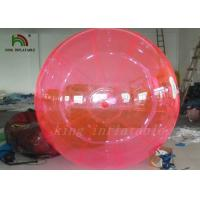 China Good Quality Red PVC / TPU 2m Inflatable Water Ball YKK Zipper From Japan on sale