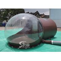 China 3m Dome Clear Inflatable Bubble Tent With Steel Frame Tunnel And Aluminium Door For Beach Hotel Use on sale