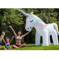 Quality Kids Inflatable Water Toys , Ginormous Blow Up Unicorn Yard Sprinkler for sale