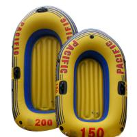 Wholesale Environmental Friendly PVC Inflatable Boats Orange For 2 Person 92 x 53cm from china suppliers