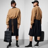 Wholesale Simple Design Inner Blanket Cropped Drawstring Sweatshirt from china suppliers