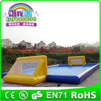 China Inflatable soccer court street soccer arena inflatable football field rental sale on sale