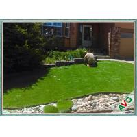 Wholesale Soft Durable Landscape Garden Artificial Grass 5 / 8 Inch Gauge Apple Green from china suppliers