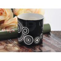 Wholesale Balck backage white circle Ceramic Candle Holder , cylinder round ceramic candle jars from china suppliers