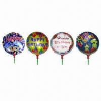 Wholesale 9-inch Round Balloons with Cup Stick, Made of PA and Aluminum and PE, Used for Parties or Weddings from china suppliers