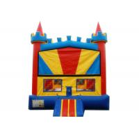 Quality Outdoor Games Colorful Inflatable Bounce House 0.55mm PVC Material Waterproof for sale