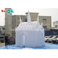 Wholesale White 210D Oxford Cloth Inflatable Bouncy Castle For Children Customized Size from china suppliers