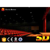 Large Curved Screen 4D Movie Theater 2-200 Seats Emotional and Special Effects for sale