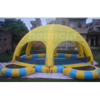 Wholesale Outdoor Inflatable Water Pool With Tent Cover And Platform For Party from china suppliers
