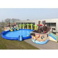 China Commercial Corsair Giant Inflatable Water Park With Coconut Tree And Slide on sale