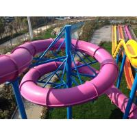 China Fiberglass Water Slides , Theme Park Commercial Water Slides For Hotel and Resort on sale
