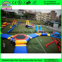 China New Giant Inflatable Water Park Games With TUV Certificate / Inflatable Wipeout Course For Sale on sale