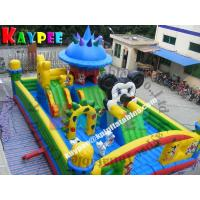 Wholesale Inflatable disney land funcity ,inflatable playland for kid, fun part with slide KFT016 from china suppliers