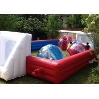 Wholesale Red And Blue Inflatable Football Game 18x10m Dimension For Amusement Park from china suppliers