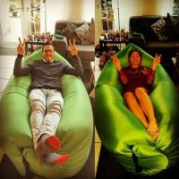 Wholesale colorful inflatable hangout sofa high quality lamzac for beach or park from china suppliers