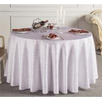Wholesale Custom White Wedding Linen Tablecloths / Decorative Round Table Covers from china suppliers