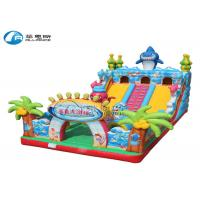China outdoor playground equipment shark slide lager inflatable slide for sale on sale