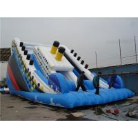 Wholesale Outside Titanic Inflatable Water Slide For Pool Customized Size Eco Friendly from china suppliers