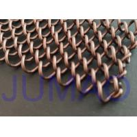 Wholesale Coffee Color Metal Mesh Curtains Iron Wire Material For Replacement Fireplace Door from china suppliers