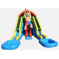 China Big Double Lane Inflatable Water Slides , Huge Blow Up Water Slide on sale