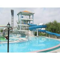Wholesale 8m Height Fiberglass Kids' Spiral Water Slide , Mountain Slide For Parent - Child from china suppliers