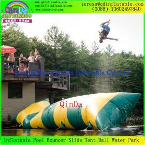 China Guangzhou QinDa  Hot Sale Inflatable Water Blob / Inflatable Blob Jump Water Toy Sale on sale