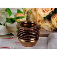 Wholesale 218ml Copper Electroplated Ceramic Candle Jars , bathroom candle holders Copper Glazed from china suppliers