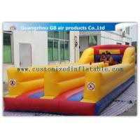 Wholesale Outdoor Kids Match Inflatable Sports Games , Inflatable Bungee Run with Two Lines from china suppliers