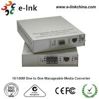Wholesale E-link 10 / 100M One to One Manageable Fast Ethernet Media Converter with Internal Power Supply from china suppliers