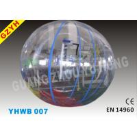 Wholesale 6 - 10 Foot, 1.0mm PVC Transparent Inflatable Water Walking Ball YHWB-007 from china suppliers
