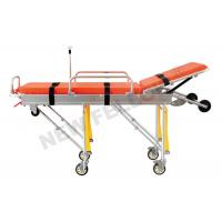 Wholesale Aluminum Alloy Adjustable Wheeled Automatic Loading Stretcher With 65° Back Angle from china suppliers