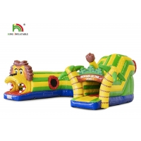 Wholesale PVC Outdoor Lion Carton Bounce Obstacle Course 6.5*5.5*3.2m from china suppliers