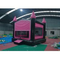 Wholesale Pink And Black Castle Inflatable Bounce House Easy Deformation SGS Approved from china suppliers