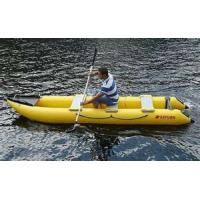 Wholesale Yellow Commercial Grade PVC Tarpaulin Inflatable boat for lake from china suppliers