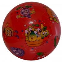 multi color printed inflatable PVC ball toys red ground angry fruits