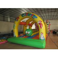 China Kis inflatable bounce house with caterpillar inside hot arch modeling inflatable jump house on sale
