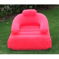 Wholesale inflatable pvc flocking beach sofa/ inflatable beach lounge sofa from china suppliers