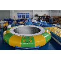Quality 0.9mm PVC Tarpaulin Inflatable Aqua Park Equipment With Trampoline for sale