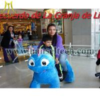 Wholesale Hansel animales montables riding dinosaur toys dinosaur animal rides for shopping mall from china suppliers