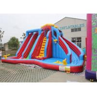 China Approved Large Garden Inflatable Double Water Slide For Children on sale