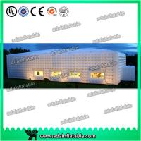 China 0.9mm Pvc Tarpaulin Green Large Inflatable Tent For Family Outdoor Wedding Events on sale