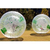 Wholesale TPU Green Dot Inflatable Zorb Ball , Inflatable Human Hamster Ball 3.0m x 2.0m Dia For Grass from china suppliers