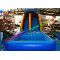 China Family Size Outdoor Inflatable Water Slide ,  Climbing Slide With Pool  For Kids on sale