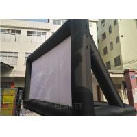Large Black And White Inflatable Movie Screen Customized Size / Material