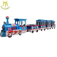Wholesale Hansel  Amusement park children train rides for sale electric trackless kids train from china suppliers