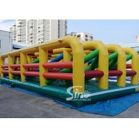 China Extreme Maze Obstacle 5k Course Inflatable Fun Run Challenge For Obstacle Games on sale