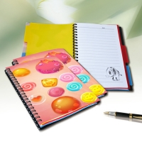 Buy cheap Flip A4 , A5 , A6 Size 3D Lenticular Notebook Cover For Wrinting from wholesalers