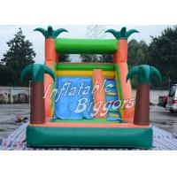 Wholesale Residential EN71 Inflatable Pool Water Slide Green Jungle With Sprayers , Durable Vinyl from china suppliers