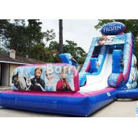 Wholesale 0.55mm PVC Frozen Inflatable Water Slide With Pool / Giant Amusement Water Park Game from china suppliers