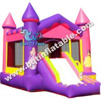 Wholesale Inflatable Pink Castle Combo,inflatable bounce with slide,inflatable standard combo from china suppliers